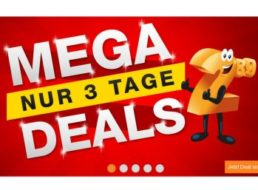 Plus: Drei Tage lang Megadeals mit Schnäppchen ab 4,95 Euro