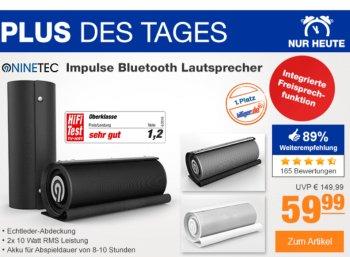 """Plus: """"Ninetec Impulse Bluetooth-Lautsprecher"""" für 59,99 Euro"""