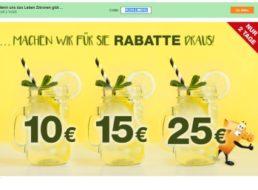 Plus: 10 bis 25 Euro Rabatt bis Ende Montag mit neuem Gutschein