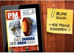 """Gratis: Jahresabo des """"P.M."""" ePaper mit knapp fünf Euro Gewinn"""