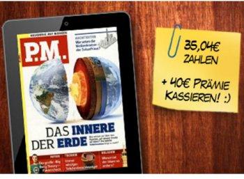 P.M.: Jahresabo des E-Paper mit knapp fünf Euro Gewinn