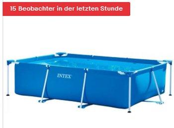 Ebay: Drei mal zwei Meter großer Pool für 79,99 Euro frei Haus