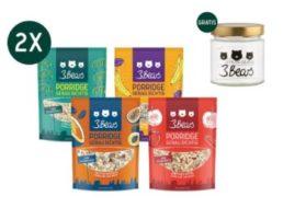 3Bears: Porridge-Paket mit acht Packungen und Gratis-Glas für 17,90 Euro