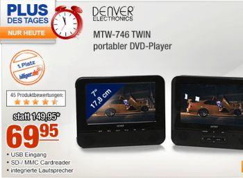 Portabler Twin-DVD-Player Denver MTW-746 für 69,95 Euro frei Haus