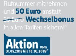 Lidl: 50 Euro Bonus für Rufnummernmitnahme bis Montag