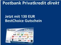 Noch verfügbar: Postbank-Kredit mit 58,56 Euro Gewinn