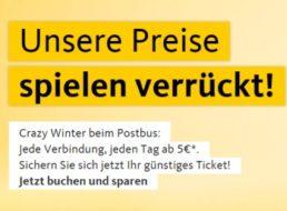 """Postbus: """"Crazy Winter"""" mit Deutschlandfahrten ab fünf Euro"""