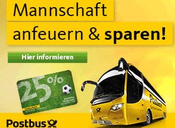 Postbus-Karte: Bis zu 25 Euro geschenkt durch EM-Spezial