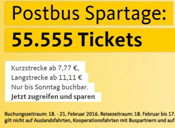 Postbus: Fernreisen ab 8,33 Euro dank Spartagen und Postbus-Karte