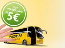 Postbus: Deutschlandweite Fernverbindungen für pauschal fünf Euro