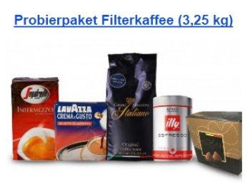 Kaffeevorteil: 3,25 Kilo gemahlener Kaffee, Pralinen & Clip für 42,99 Euro