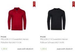Outlet46: ProJob-Sweatshirts für 1,99 Euro frei Haus