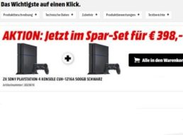 Knaller: Zwei PS4 bei Mediamarkt zum Preis von einer bestellen