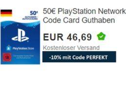 Wieder da: 50 Euro Guthaben für Playstation Network für 42,02 Euro