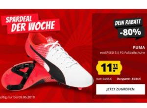 Puma: Herren-Fußballschuhe für 11,11 Euro plus Versand
