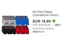 Kappa: Unterwäsche im Sechserpack für 19,99 Euro frei Haus