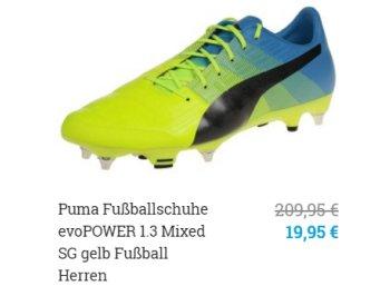 Sneakerprofi: Puma-Fußballschuhe Evopower 1.3 Mixed für 19,95 Euro