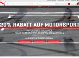 Puma: 20 Prozent Motorsport-Rabatt bis zum 20. März 2016