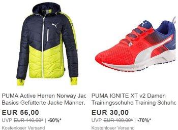 Puma: Rabatt-Aktion mit mindestens 50 Prozent Preisabschlag für wenige Tage