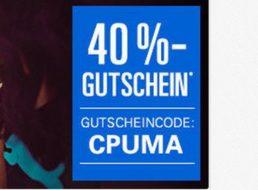 Puma: Gutschein für 40 Prozent Rabatt bei Ebay