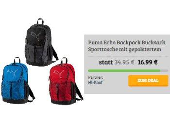 Puma: Rucksack für 16,99 Euro frei Haus, Funktionsshirt für 7,77 Euro