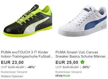 Puma: Sale bei Ebay mit bis zu 50 Prozent Rabatt und Gratis-Versand