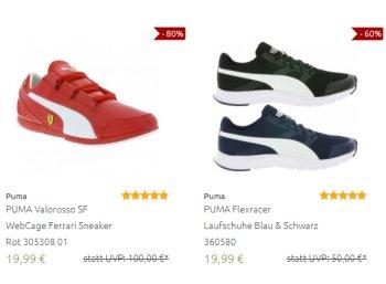 Puma: Sale bei Outlet46 mit Artikeln ab 4,99 Euro frei Haus