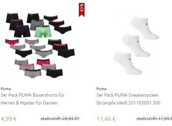 Outlet46: Puma-Sale mit Mode-Schnäppchen ab 4,99 Euro frei Haus