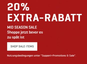 Puma: 20 Prozent Rabatt auf bereits reduzierte Sale-Artikel