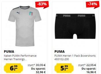 Sportspar: Puma-Sale mit über 100 Artikeln ab 1,99 Euro