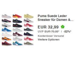 Puma: Sneaker für Herren und Damen zum Schnäppchenpreis von 32,99 Euro