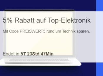 Ebay: 5 Prozent Rabatt auf über 900 Elektronik-Artikel für eine Woche