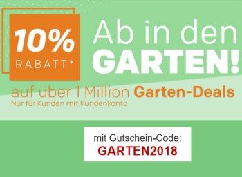 Rakuten: 10 Prozent Garten-Rabatt auf über eine Million Artikel