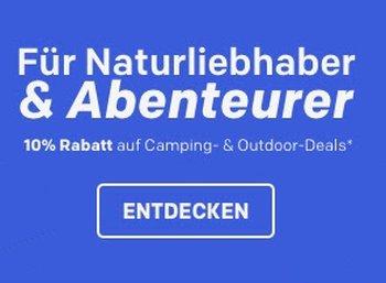 Rakuten: 10 Prozent Rabatt auf Camping- und Trekking-Artikel