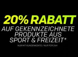 Rakuten: 20 Prozent Rabatt auf ausgewählte Sportartikel für 24 Stunden