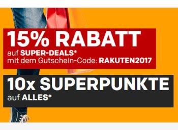 Rakuten: 15 Prozent Extra-Rabatt auf Produkte im Super-Sale