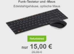 Allyouneed: Rapoo 9060 Schnurlos-Tastatur als B-Ware für 15 Euro frei Haus