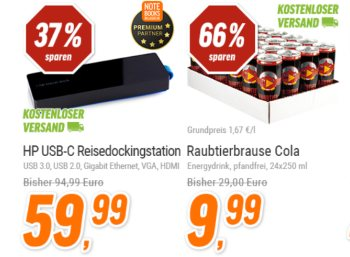 Notebooksbilliger: 24 Dosen Raubtierbrause Cola für 9,99 Euro frei Haus