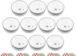Ebay: Zehnerpack Rauchmelder mit 10-Jahresbatterie für 69,99 Euro