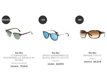 Ray Ban: Brillen im Sale mit zehn Prozent Extra-Rabatt