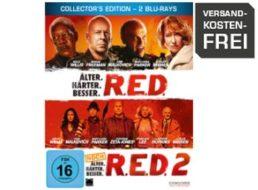 """Saturn: Steelbox-Edition """"R.E.D."""" Teil eins und zwei auf Blu-ray für 9,99 Euro"""