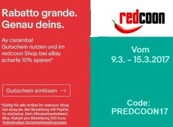 Redcoon: Rabatt von zehn Prozent auf alle Artikel via Ebay