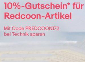 Ebay: Redcoon-Rabatt von 10 Prozent bis Mittwoch abend