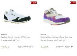 Outlet46: Reebok-Sneaker zu Preisen ab 19,99 Euro frei Haus