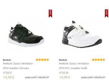 Reebok: Schuhe und Sneaker ab 14,99 Euro frei Haus bei Outlet46