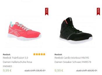 Reebok: Schuhe und Sneaker ab 9,99 Euro frei Haus via Outlet46