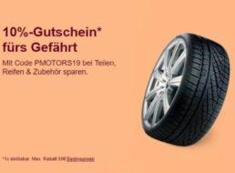 Ebay: Zehn Prozent Rabatt auf Autoteile, Reifen und Zubehör