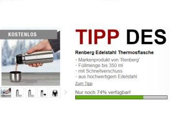 Druckerzubehoer.de: Renberg Thermoflasche für 5,97 Euro frei Haus