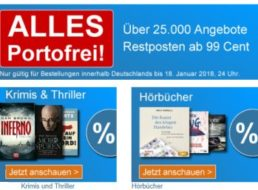 Terrashop: Sale mit Hörbüchern, MP3-CDs und Reiseführern ab 99 Cent frei Haus