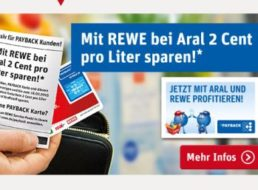 Rewe: Aral-Rabatt durch Einkauf im Supermarkt sichern